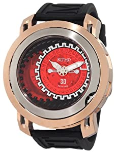 Ritmo Mundo Men's 202/2 Red SS RG Persepolis Dual-Time Exhibition Automatic Watch