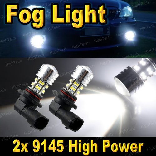 2 Pcs Bright White 9145 20-Smd Led High Power Headlight Bulbs For Driving Fog Light / Day Time Running Light Drl ( Cross Reference : H10 / 9040 / 9045 / 9055 / 9140 )