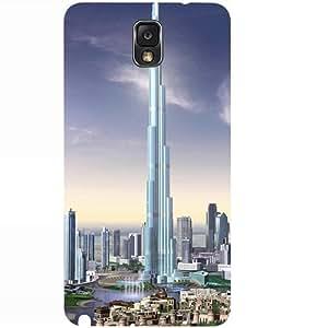 Casotec Burj Dubai Design 3D Hard Back Case Cover for Samsung Galaxy Note 3 N9000
