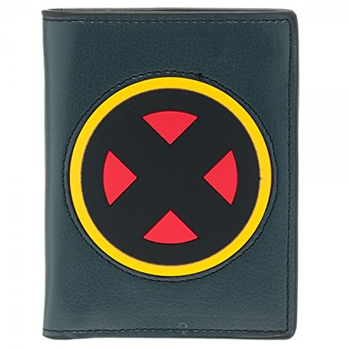 Marvel X-Men Rubber Inlay Vertical Bi-Fold Wallet