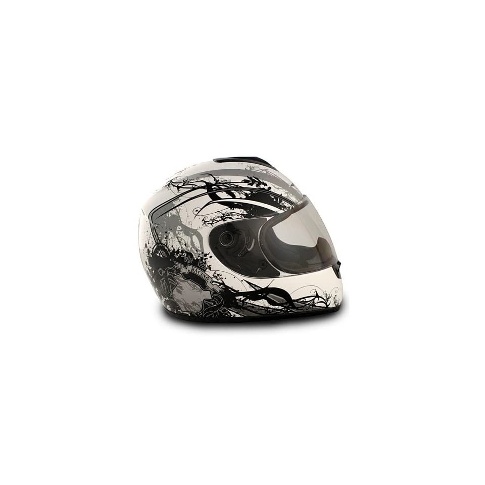 Vcan 136 Full Face Cat Silver Full Face DOT Approved Motorcycle Helmet