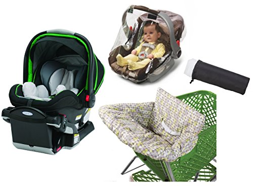 Graco SnugRider Click Connect 40 Infant Car Seat with Weather Shield, Insect Netting & Multi-Use Cover, Fern (Graco Snug Ride Car Seat Cover compare prices)