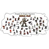 25 Assorted D&d Dungeons and Dragons Miniatures Figures