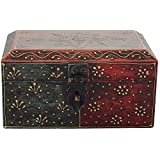 Rajasthani Handicraft Wooden Drawer Box (5.4 Cm X 1 Cm X 6 Cm, )