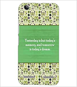 PrintDhaba Quote D-3173 Back Case Cover for LENOVO A6020a46 (Multi-Coloured)