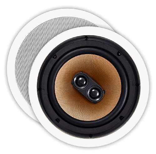 Osd Audio Ice840Tt 8-Inch 175-Watt Polypropylene Dual Voice Coil In-Ceiling Stereo Speaker, Single
