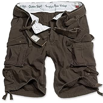 Surplus Homme DIVISION Short, Couleur: brown washed, Taille: S