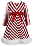 Bonnie Jean Little Girls Sequins Striped Holiday Christmas Santa Dress