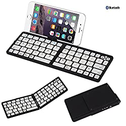 (luminous function + sleep function + hidden bracket function) three in one, portable foldable Bluetooth Keyboard,for Tablet computer /PDA/ handheld device(black)