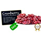 """Cranberries - Preiselbeeren - Moosbeeren - Cranberry - Airelle rouge - arándano rojo - mirtillo rosso, ungezuckert, ohne Schwefel, ohne Zusatzstoffe - mit Ananasdicksaft """"PREMIUM QUALITÄT""""- 1001 Frucht - EXCLUSIVE - Nüsse - Trockenfrüchte - Gewürze - 1kg"""