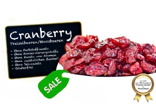 """Image of Cranberries - ANGEBOTSPREIS - Moosbeeren - Cranberry - Airelle rouge - arándano rojo - mirtillo rosso, ungezuckert, ohne Schwefel, ohne Zusatzstoffe - mit Ananasdicksaft """"PREMIUM QUALITÄT""""- 1001 Frucht - EXCLUSIVE - Nüsse - Trockenfrüchte - Gewürze - 1kg"""