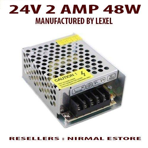 Nirmal 24V 2AMP 48W WATT DC SMPS POWER SUPPLY For LED Strip Light ...