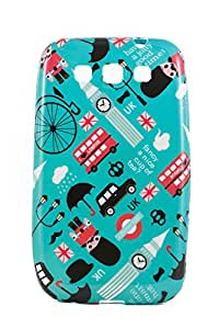 Purple Eyes Exclusive Printed TPU Silicon Back case Samsung Galaxy Quattro i8552 UK Bus