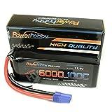 Powerhobby 3S 11.4V HV 6000mAh 100C-200C Lipo Battery Pack w EC5 Plug 3-Cell Fits : Losi 8ight-E / Proboat / Losi XXL2-E / Vaterra / ECX /
