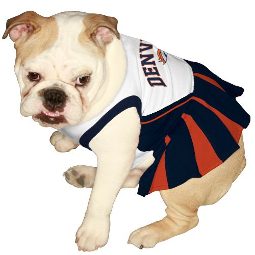 Pets First DEN-4007-SM NFL Denver Broncos Dog Cheerleader Dress, Small at Amazon.com