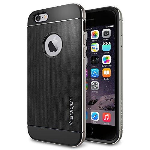 iPhone 6 ケース, Spigen® [ リアル アルミニウム バンパー] ネオ・ハイブリッド メタル iPhone 4.7 (2014)  The New iPhone アイフォン6 (国内正規品) (スペース・グレー SGP11176)
