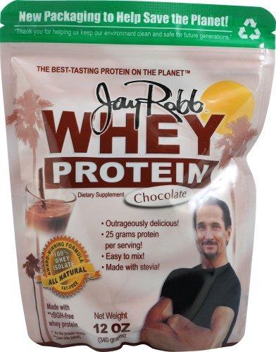 Jay Robb Whey Protein Powder Chocolate -- 12 Oz