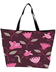 Snoogg Seamless Texture With Flowers And Butterflies Endless Floral Pattern Waterproof Bag Made Of High Strength... - B01I1KHEEK