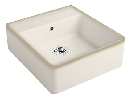 Villeroy & Boch Cappuccino Beige Ceramic Kitchen Sink Single Basin Sink Stone Pot