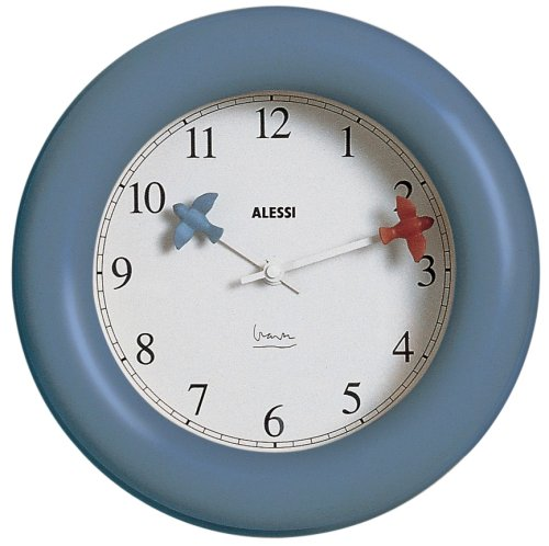 Alessi Kitchen Wall Clock, Blue, (10 AZ)