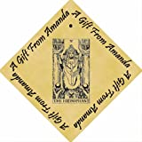 Pack of 12 PERSONALISED Parchment 6cm Square Gift Tags Tarot The Hierophant