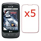 5x LG Optimus S LS670 Premium Clear LCD Screen Protector Shield Cover Guard ....