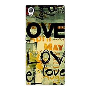 Love Typo Multicolor Back Case Cover for Sony Xperia Z3