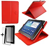 Red PU Leather Case & Stand for Intenso TAB814S 8