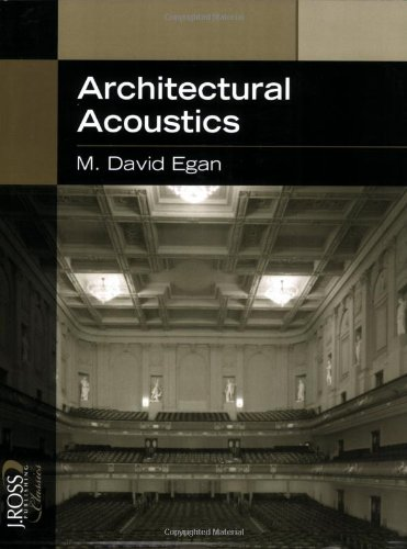 Architectural Acoustics (J. Ross Publishing Classics)