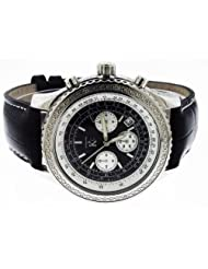 Techno Com By Kc 50mm 12 Diamonds Watch Dark Black Face