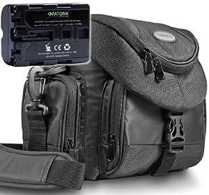 KIT Mantona Premium SYSTEM TASCHE + PATONA Premium Akku für Sony NP-FM500H mit Infochip (neueste Generation 100% kompatibel!)