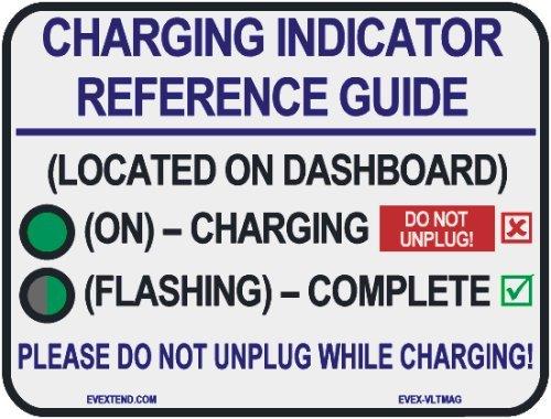 Ev Extend (Evex-Vltmag-Elr) White Charging Reference Magnet For Cadillac Elr