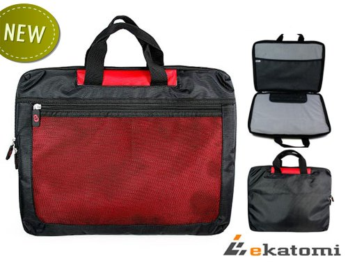 Uncircumscribed 17-inch Laptop Bag for Acer 17.3 Aspire Notebook - Red. Gratuity Ekatomi Screen Cleaner