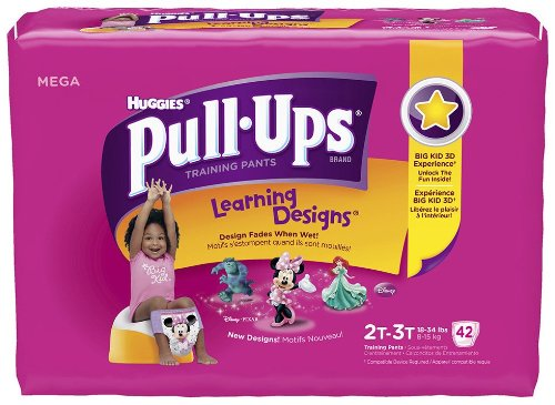 Huggies Pull-Ups Learning Design Training Pants for Girls - Mega Pack - 1