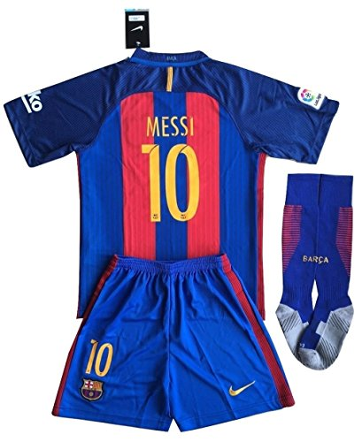 Barcelona Messi #10 Soccer Jersey Set & Socks Kids/Youths 9-10 Years Old (Football Messi compare prices)