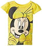 Disney Little Girls Minnie Mouse Girls T-Shirt with Rainbow Foil