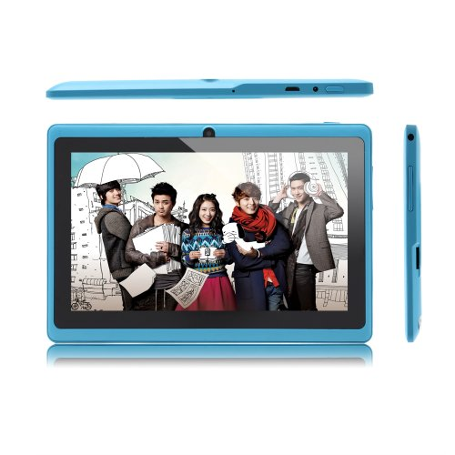 Irulu 7 Inch Android Tablet Pc, 4.2 Jelly Bean Os, Dual Core, Allwinner A23 Cpu, Dual Cameras, 5 Point Capacitive Touch Screen, 8Gb Storage - Azure