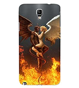 ColourCraft Vampire Couple Design Back Case Cover for SAMSUNG GALAXY NOTE 3 NEO DUOS N7502