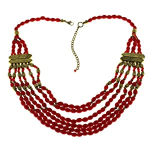 Party Red Necklace Fashion Handmade Costume Jewellery From India