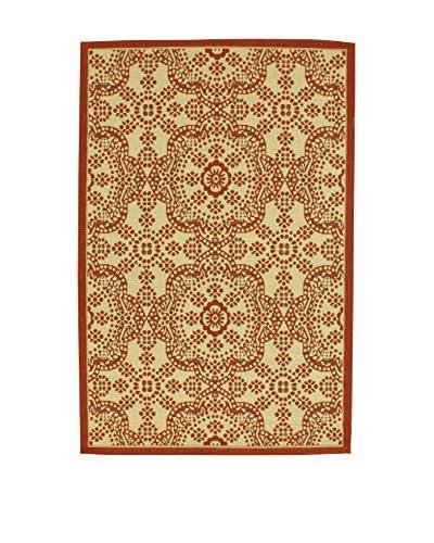 Tapis a Porter Teppich Casa Sisal beige/rot 80 x 150 cm