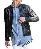 ルービック(RUBIK) ライダースジャケット メンズ ライダース レザー リサイクルレザー 革ジャン 本革 ダブル シングル S(シングル) ブラック