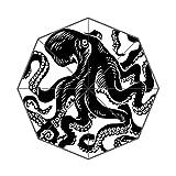 Black White Tattoo octopus Auto Foldable Umbrella