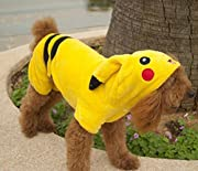 Cute Pet Costume Dog Clothes Double Thick Flannel Pikachu Pet Dog Clothes Fall and Winter Size L
