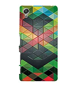 PrintVisa Stripes Pattern 3D Hard Polycarbonate Designer Back Case Cover for Sony Xperia X