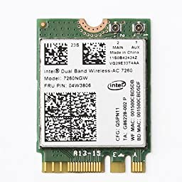 Nbparts® new for Lenovo IBM Intel 7260NGW 802.11AC NGFF Wireless-AC Card FRU:04W3806