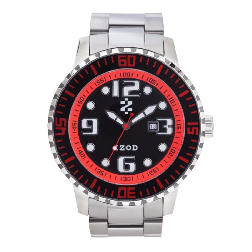 IZOD Men's IZS5/4 BLK/RED Sport Quartz 3 Hand Watch