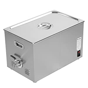 Tool Parts - Stainless Steel Digital Industrial Heated Ultrasonic Cleaner Tank With Timer - Tool Parts Direct Storage Tray Organizer Cart Tool Parts Cleaner Ultrasound Jewelry Hose Heater Ultraso (Color: Czech Republic)