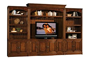 Sligh Northport TV Console and Deck w Bookcases