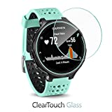 BoxWave ClearTouch Glass Garmin Forerunner 235 Screen Protector - Premium HD Tempered Glass Screen Protector