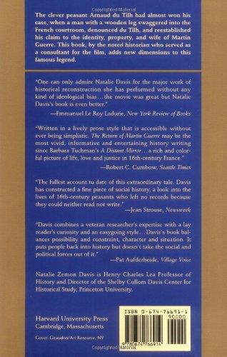 return martin guerre natalie zemon davis thesis